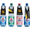 PET-Flaschen mit 4 verschiedenen Flaschenanhänger-Konturen