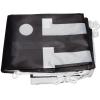 Im Lieferumfang enthalten: bedruckte, zusammengelegt, mit Kunststoffhaken versehene Flagge
