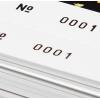 Vergrößerung: Perforation (kurz: Perfo) und Nummerierung