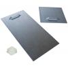 Selbstklebende Metallhalterung (2 Stück pro Platte). Je nach Plattengröße und deren Gewicht erfolgt die Lieferung in 10x10 cm oder 10x20 cm inkl. selbstklebenden Gummi-Abstandshaltern.