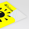 Neonpapier gelb (Abb. ähnlich)