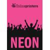 Neonpapier pink (Abb. ähnlich)