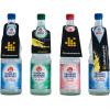 Glas-Flaschen mit 4 verschiedenen Flaschenanhänger-Konturen
