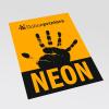 Neonpapier orange (Abb. ähnlich)