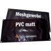 Planen aus 500 g/m² PVC matt und 300 g/m² Meshgewebe, mit optionaler Rundum-Ösung (Abbildung ähnlich)