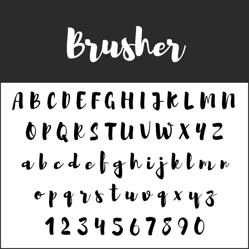 0f80c50a1eb8 10 kostenlose Brush Fonts - frei zur kommerziellen Nutzung
