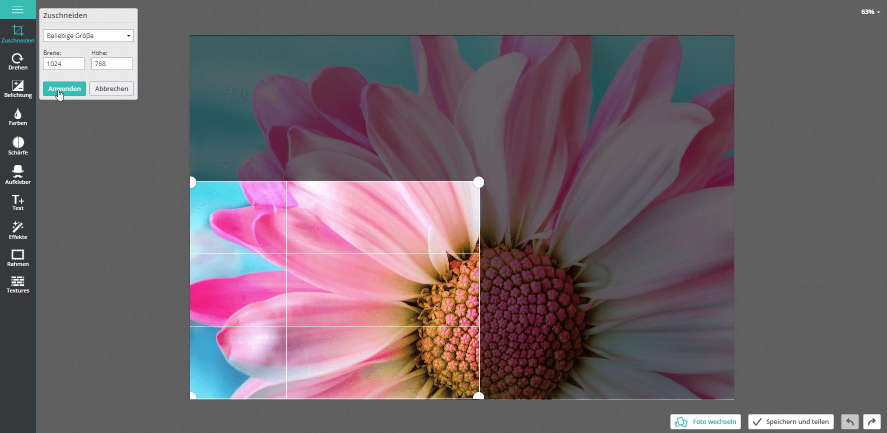 Bilder Online Und Kostenlos Bearbeiten Zuschneiden Und Bildgröße ändern