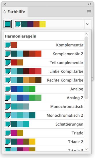 Harmonische Farben Generator