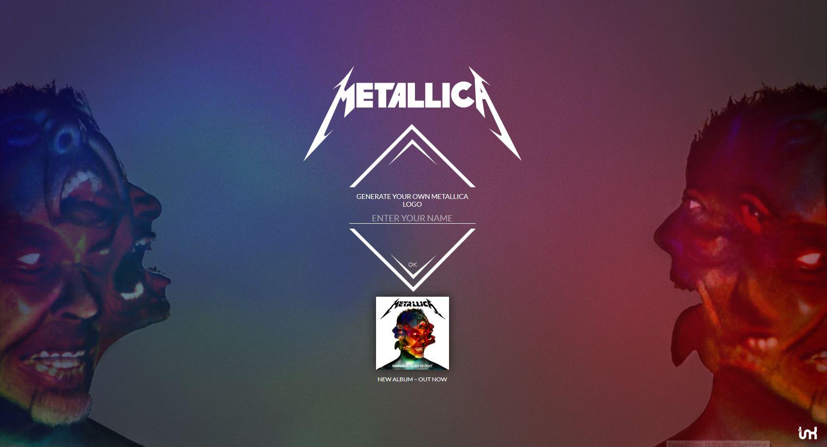 Metallica-Schrift-Generator