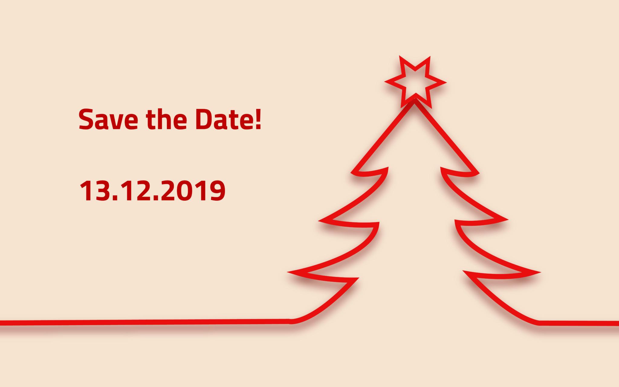 Einladung Weihnachtsfeier - Save the Date