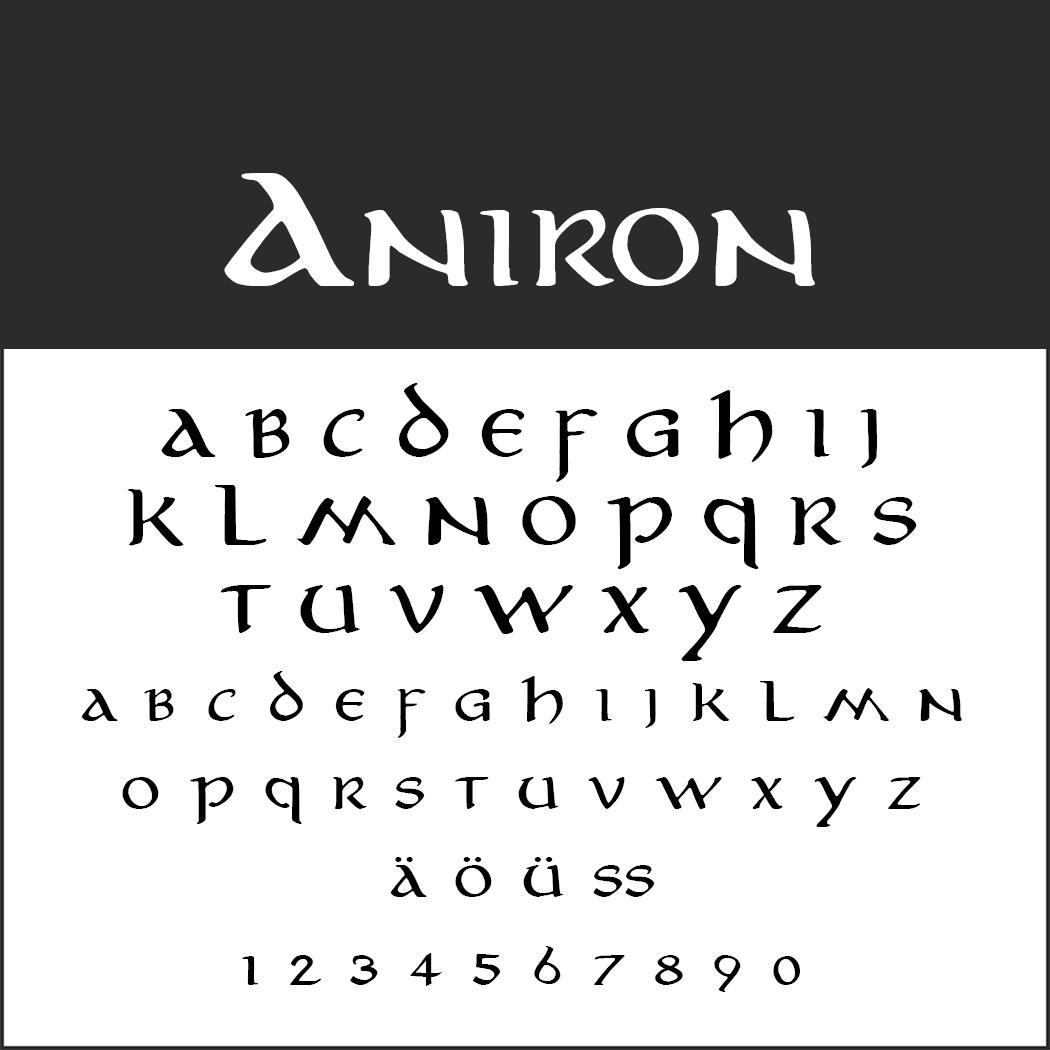 """""""Herr der Ringe""""-Schrift: Aniron by thehutt"""
