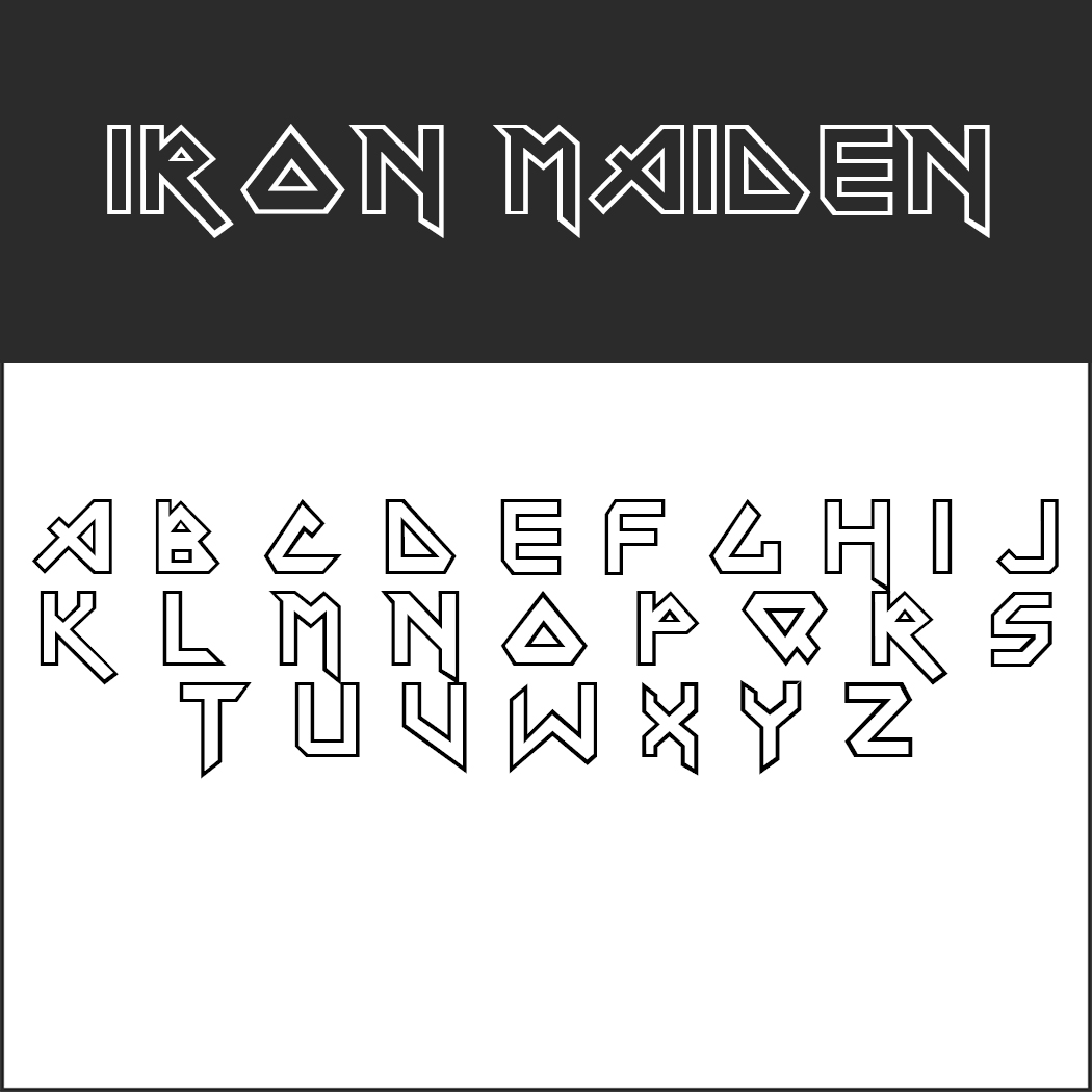 Iron-Maiden-Schrift by Timour Jgenti