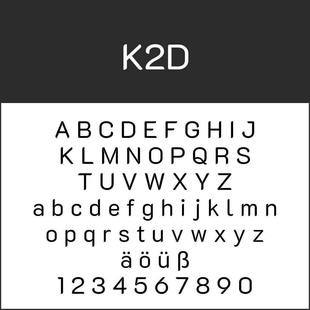 Serifenlose Schrift K2D