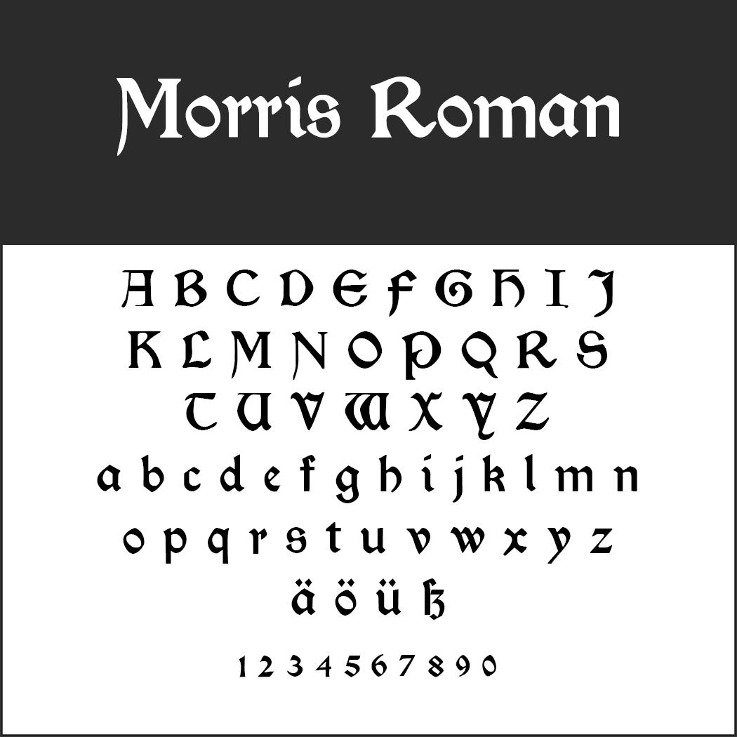 """Herr der Ringe""-Schrift: Morris Roman by Typographer Mediengestaltung"