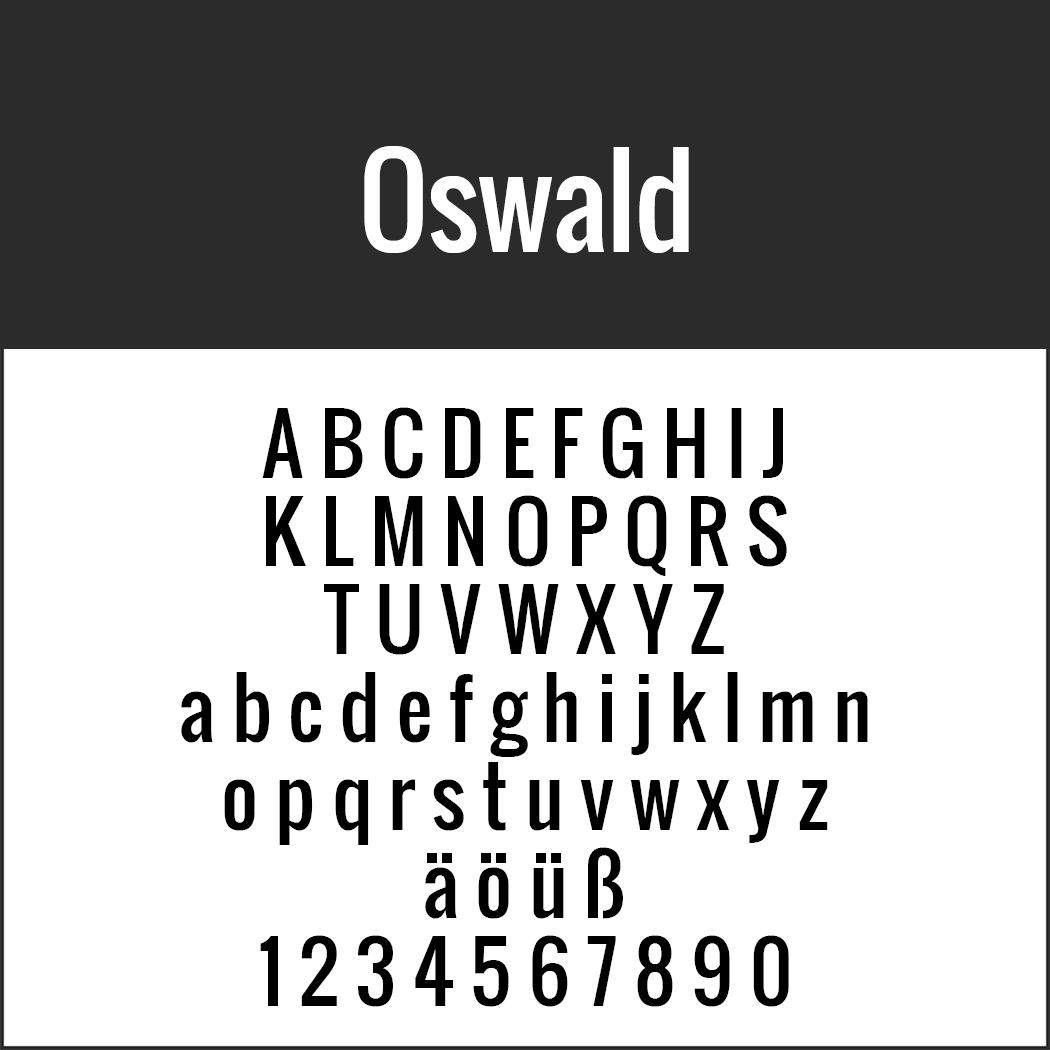 Serifenlose Schrift Oswald