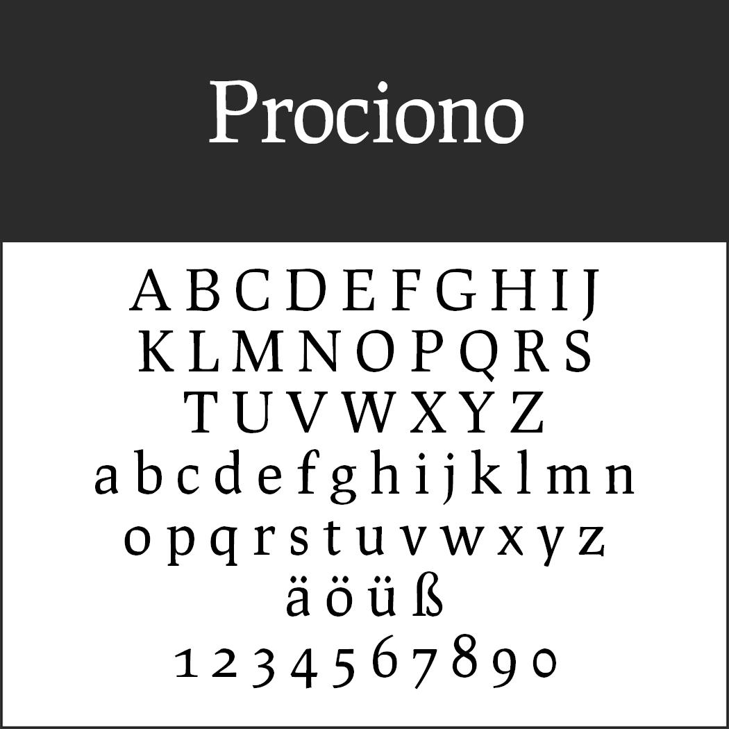 Times New Roman - Alternative: Prociono