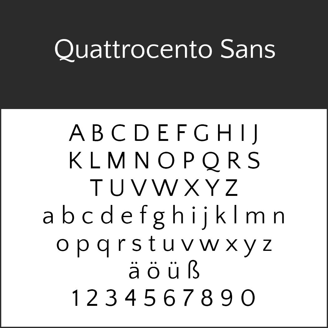 Serifenlose Schrift Quattrocento Sans