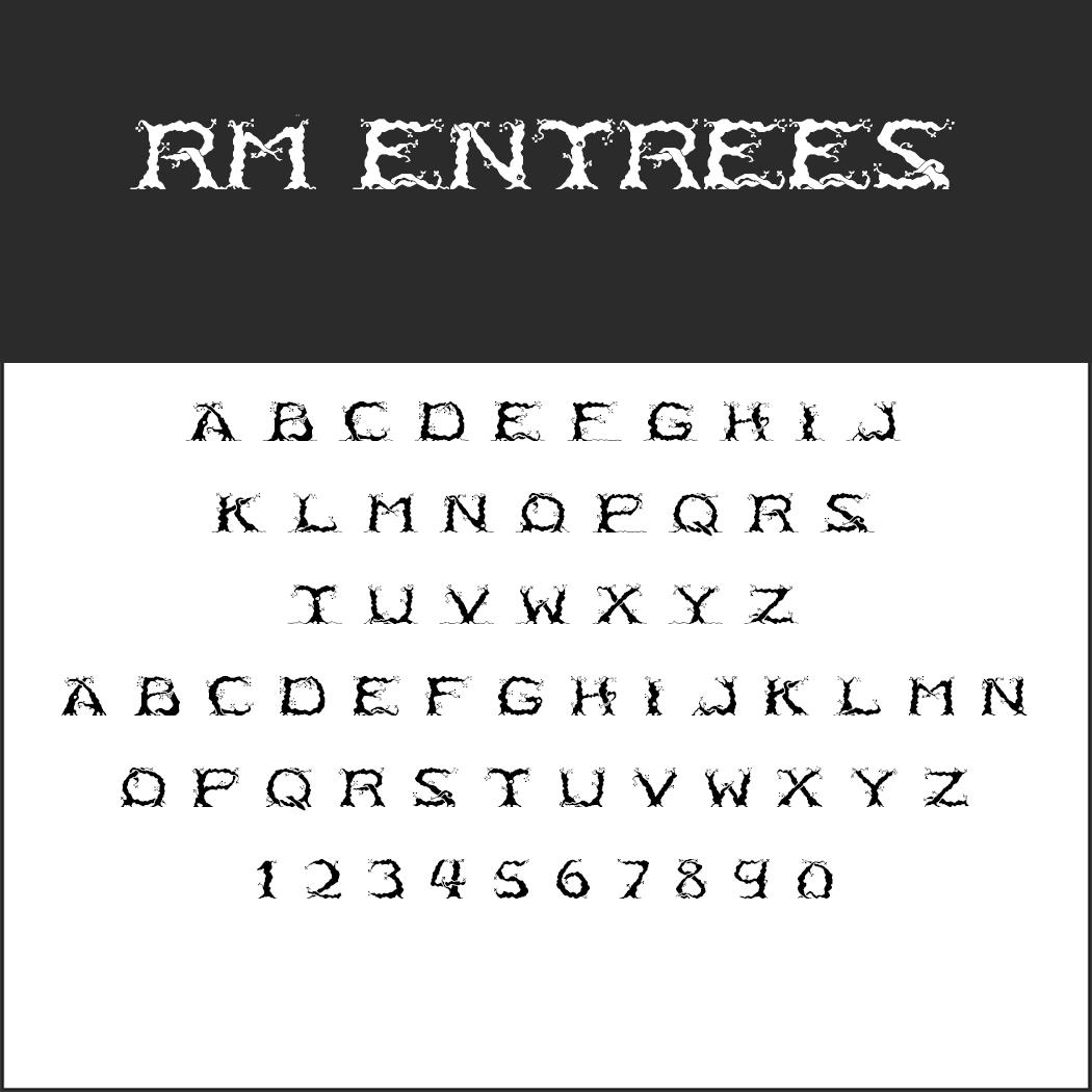 """Herr der Ringe""-Schrift: RM Entrees by p2pnut"