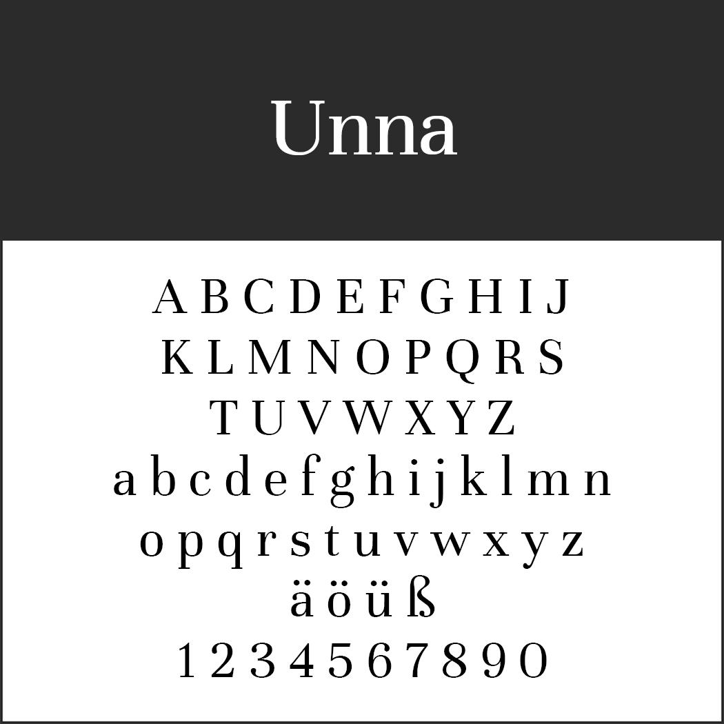 Times New Roman - Alternative: Unna
