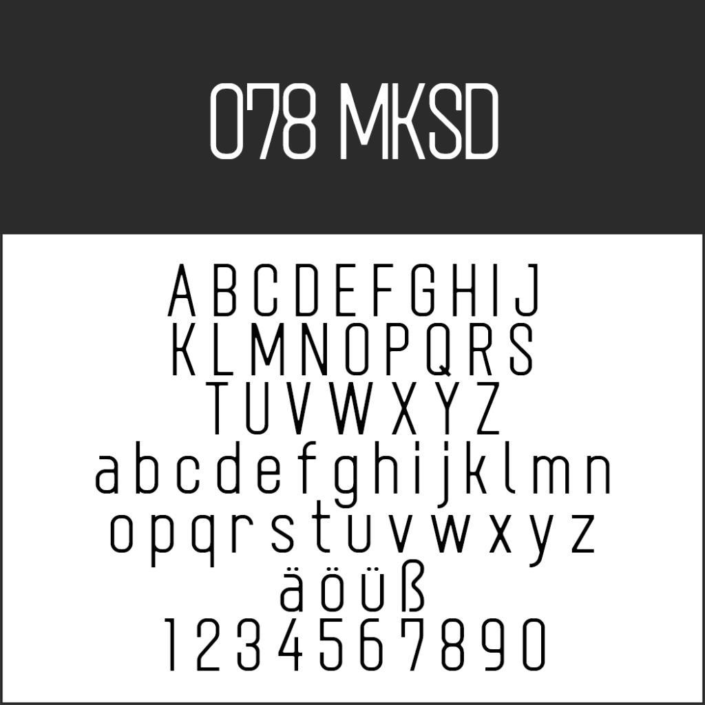 Coole Schriftart: 078 MKSD