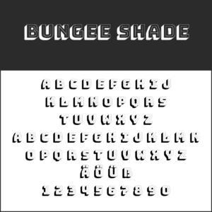 Coole Schriftart: Bungee Shade