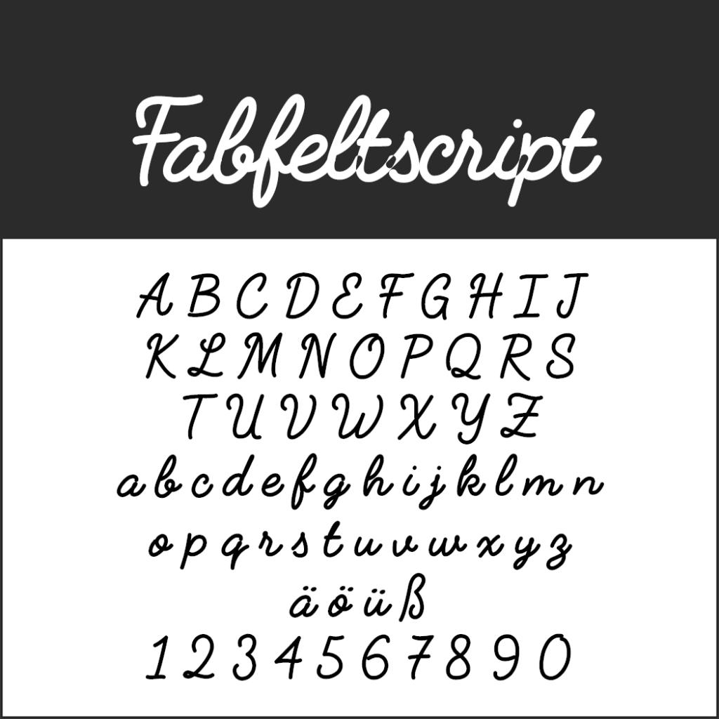 Coole Schriftart: Fabfeltscript