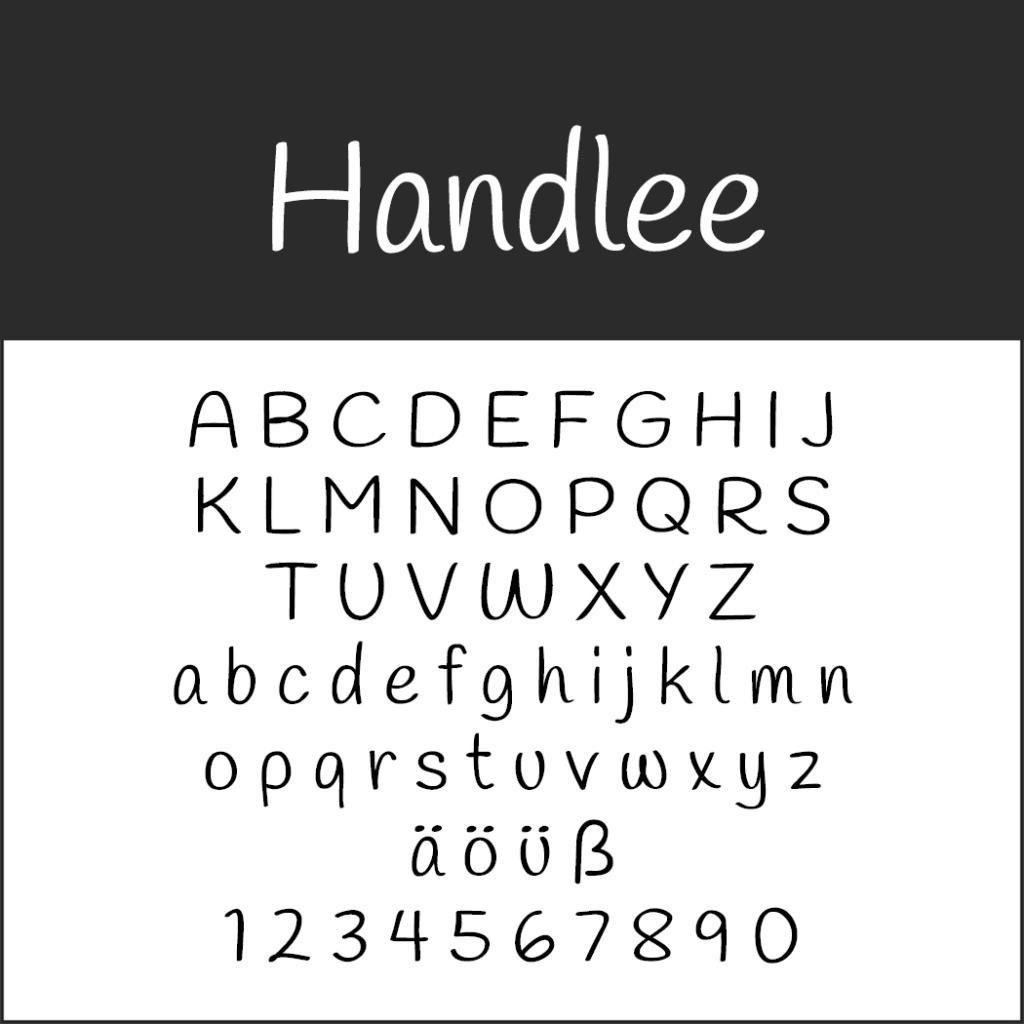 Coole Schrift: Handlee