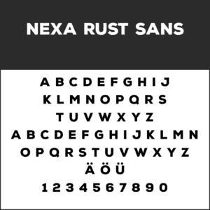 Coole Schriftart: Nexa Rust Sans