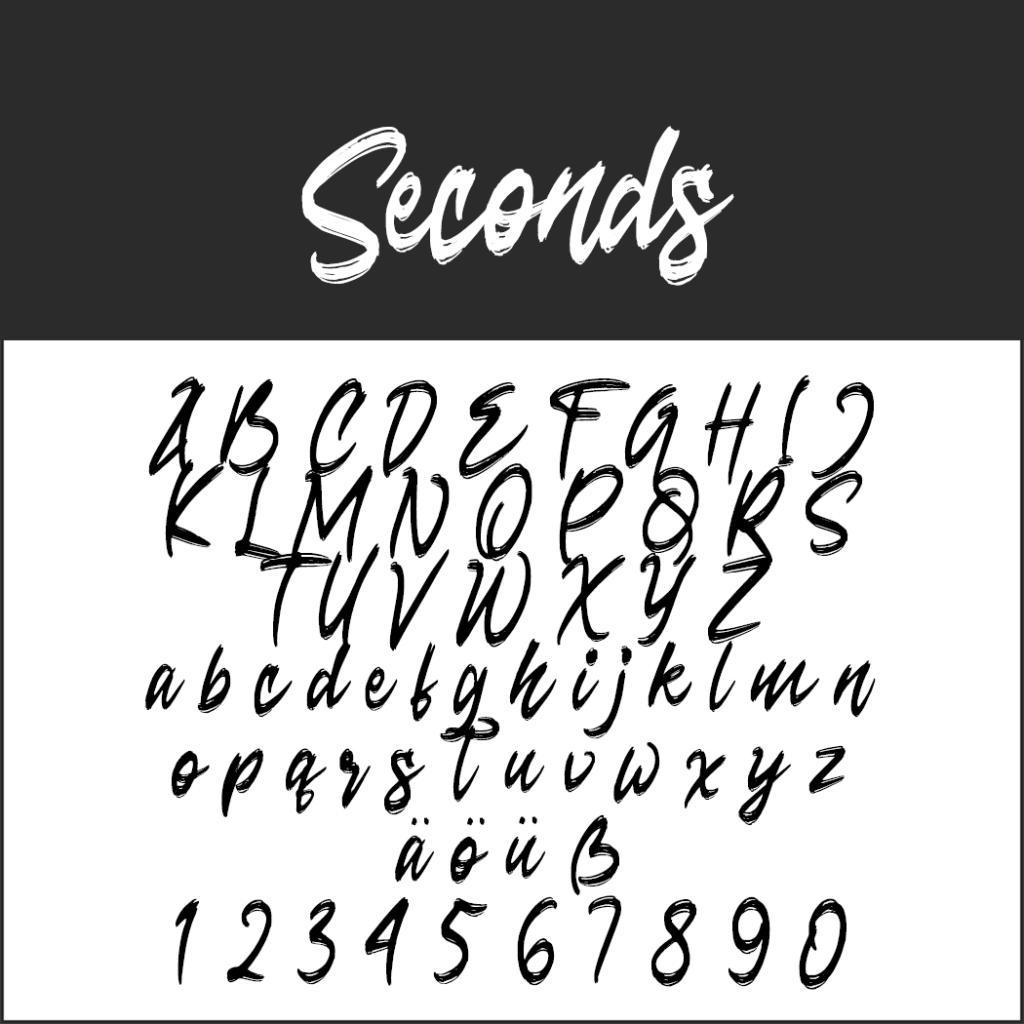 Coole Schrift: Seconds